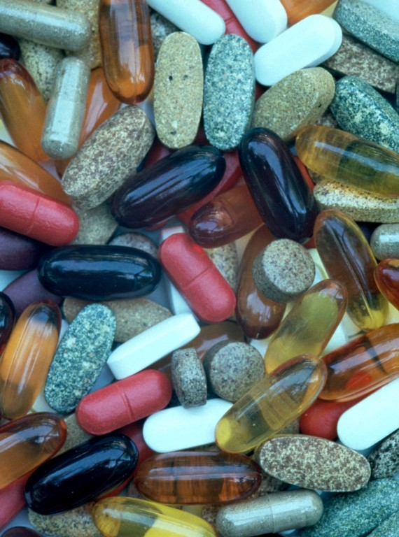 Photo of various vitamin pills