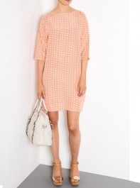 Bruuns Bazaar Coral Printed Silk Dress