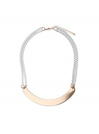 Freedom at Topshop Box Chain Collar Necklace