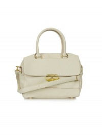 Topshop Cream Bowling Bag