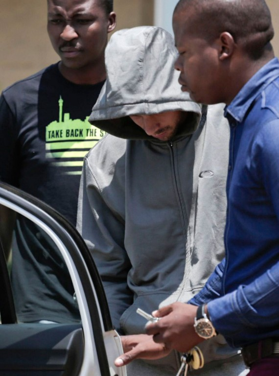 Oscar Pistorius arrest photo