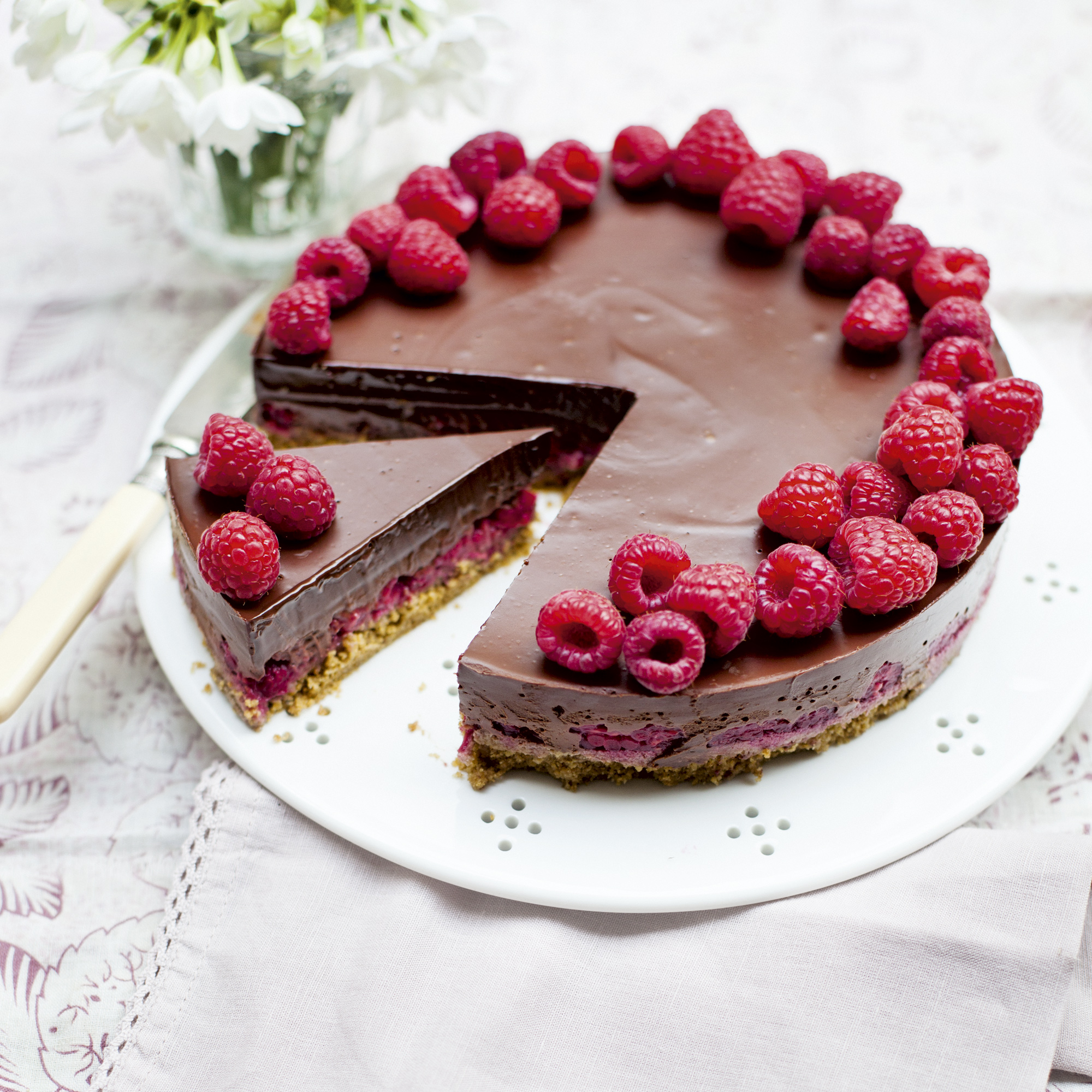 Chocolate And Raspberry Pie Woman And Home
