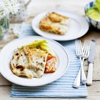 Butternut squash and goats' cheese lasagne 
