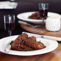 Red Wine Sausages with Puy Lentils