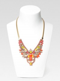 Hoss Intropia Neon Beaded Collar Necklace