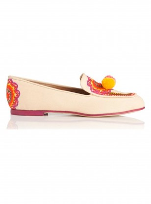 LK Bennett Embroidered Slipper