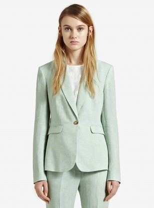 Reiss Linen Jacket in Peppermint