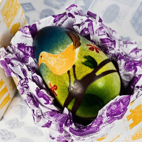 photo of Hand-Painted Egg No.4 with Japanese Bird Design, �35 from Rococo Chocolates