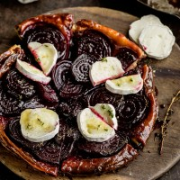 Beetroot Tart with Goats' Cheese