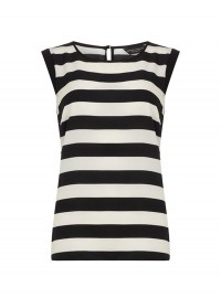 Dorothy Perkins Black and White Striped Tee