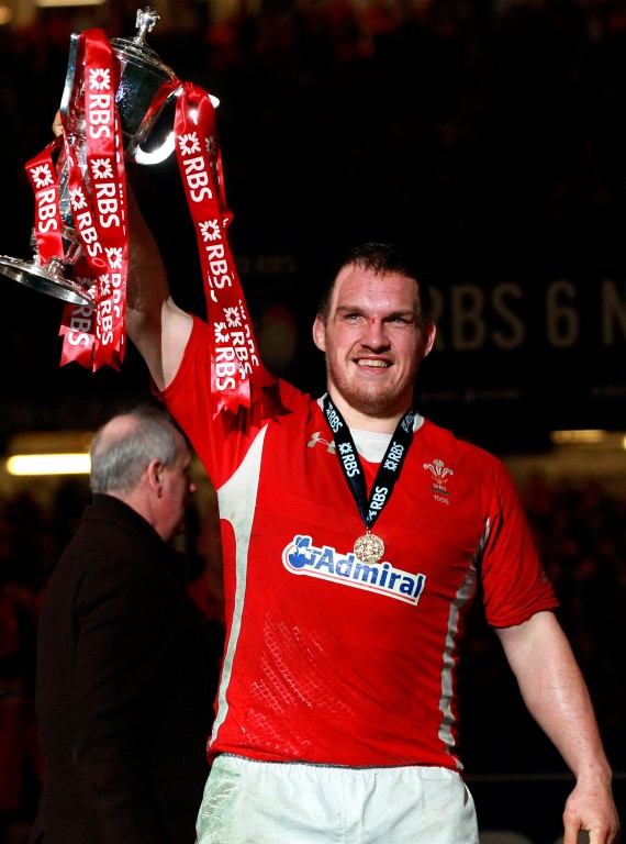 Gethin Jenkins Six Nations trophy photo