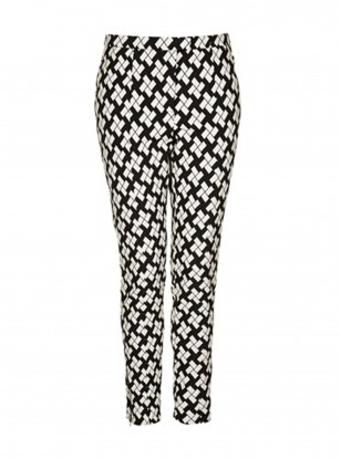 Topshop Block Print Skinny Trousers
