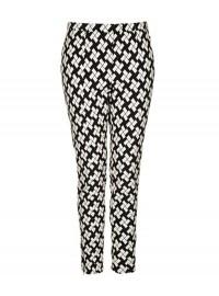 Topshop Block Print Skinny Trousers