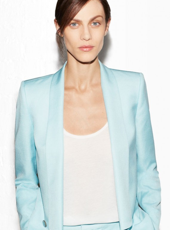 photo of model in Zara blazer