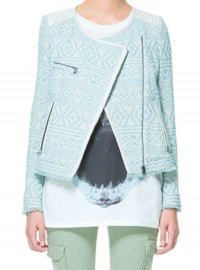 Zara Jacquard Pattern Jacket
