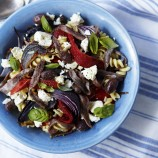 Pasta and Feta Salad with Roasted Veg