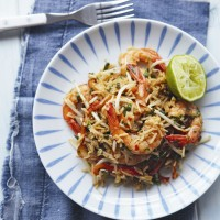 Prawn stir-fry rice