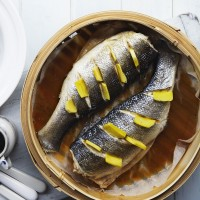 Steamed Sea Bass with Ginger