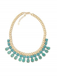 Accessorize blue collar necklace