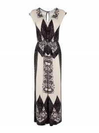 Oasis border print maxi dress