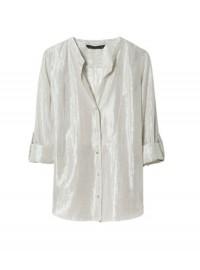 Zara silver shirt