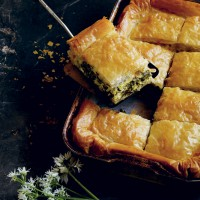 Spinach, Wild Garlic and Filo Pie