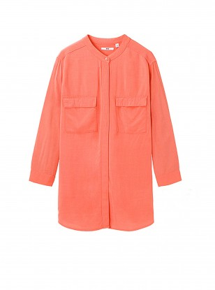 Uniqlo Rayon Stand Collar Blouse