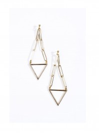 Urban Outfitters Malababa Grove Triangle Earrings 
