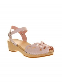Swedish Hasbeens Oranament Pink Leather Sandals