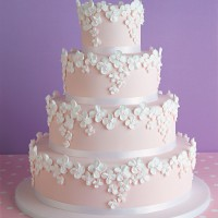 Pink wedding cake