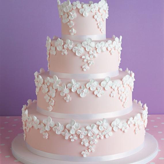 Pink Wedding Cake Woman And Home
