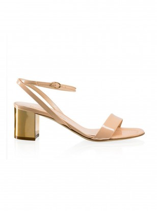 Russell and Bromley Cannes Gold Heel Sandal