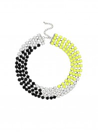 Freedom at Topshop Rhinestone Block Collar