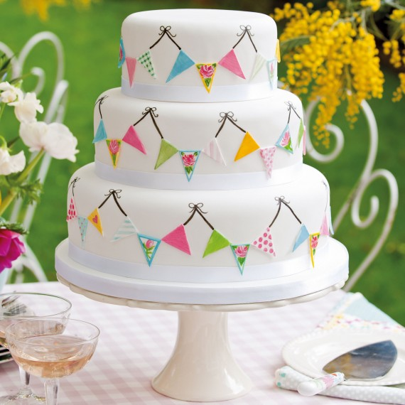 Summer Fete Wedding Cake