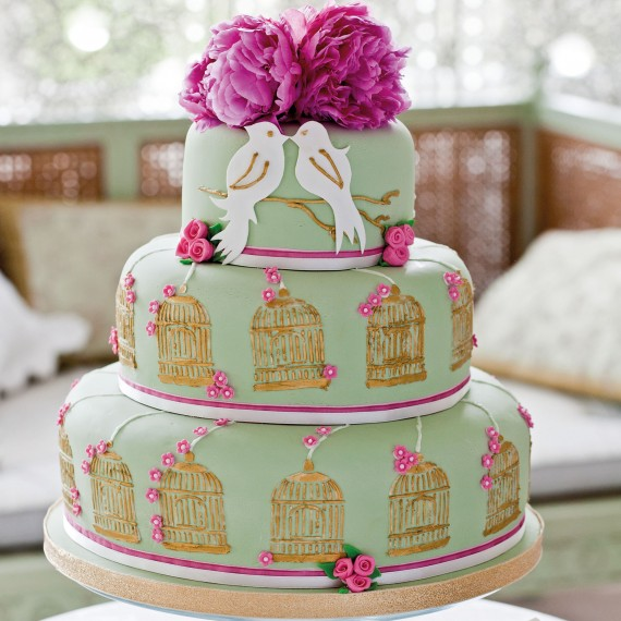 Love Birds Wedding Cake Woman And Home