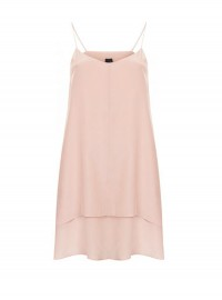 Topshop Boutique silk nude dress
