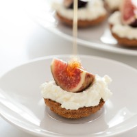 Little Ricotta Tartlets with Fig and Honey