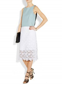 Tibi Floral Lace Skirt
