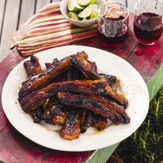 Sweet chilli and lime pork ribs