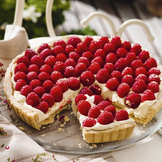 tart recipes lemon and raspberry tart woman and home