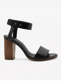 Cos Black Ankle Strap Heels