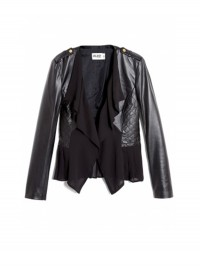 Alice by Temperley Alexander Draped Leather Jacket