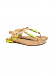 H&M Neutral and Neon Sandals