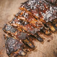 Lamb Ribs with Onion Salad