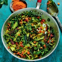 Rick Stein's Dry Curry of Cabbage, Carrot and Coconut