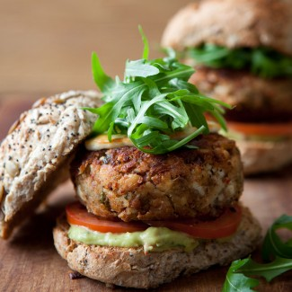 Spicy Mexican bean burgers