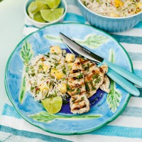 Fragrant Asian salad with chicken