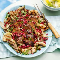 Pork tenderloin with onion salad