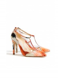 Bionda Castana Maddox Crepe Satin T-Bar Shoes