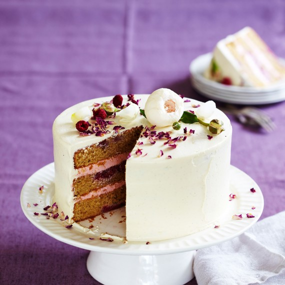 Raspberry and White Chocolate Layer Buttermilk Cake - Woman And Home